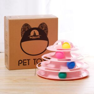 Cat 4 level tray toy with ball